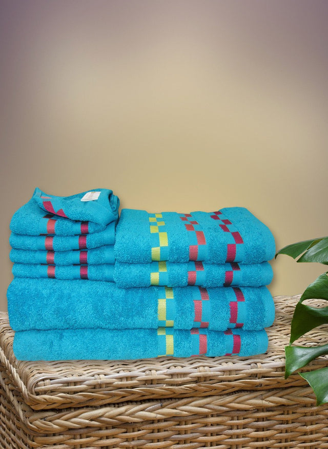 8 Pc Sonoma Towel Set 100% Cotton (2 Bath Towel+ 2 Hand Towel + 4 Face Towel) (C_Bt121Z_Bt121Z_Ht53Z_Ft91Z)
