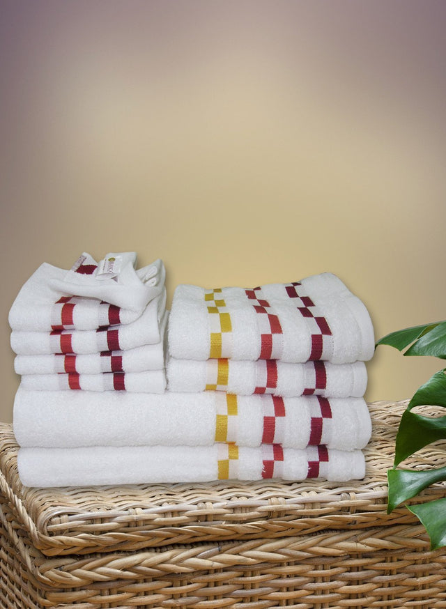 8 Pc Sonoma Towel Set 100% Cotton (2 Bath Towel+ 2 Hand Towel + 4 Face Towel) (C_Bt122Z_Bt122Z_Ht54Z_Ft92Z)
