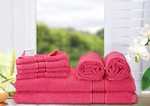8 Pc Set D'Ross Towel Set 100% Cotton (2 Bath Towel+ 2 Hand Towel + 4 Face Towel) (C_Bt137_Bt137_Ht69_Ft108)