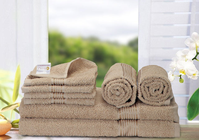 8 Pc Set D'Ross Towel Set 100% Cotton (2 Bath Towel+ 2 Hand Towel + 4 Face Towel) (C_Bt138_Bt138_Ht70_Ft109)