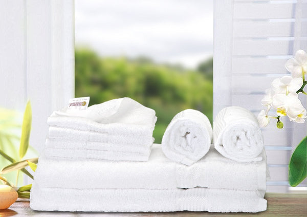 8 Pc Set D'Ross Towel Set 100% Cotton (2 Bath Towel+ 2 Hand Towel + 4 Face Towel) (C_Bt139_Bt139_Ht71_Ft110)