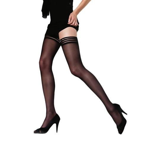 Cette Phoenix Holdup Stocking - Black (Medium)
