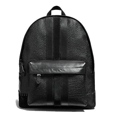 Charles Backpack With Baseball Stitch Black