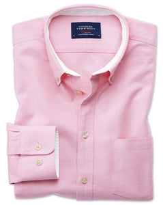 Charles Tyrwhitt Washed Oxford Classic Fit Shirt - Large