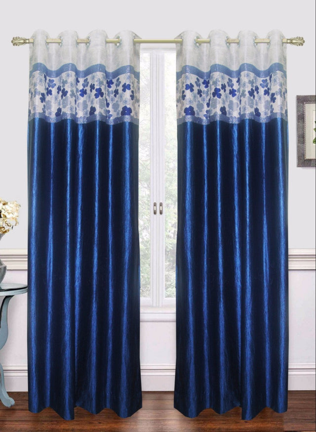 Blue Traditional Door Curtain (Dc10)