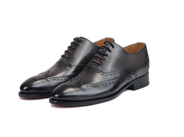 Gonza Black Oxfords- Premium Leather Handcrafted Shoes