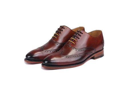 Gonza Brown Oxfords- Premium Leather Handcrafted Shoes