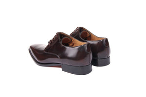 Eloy Burgundy Derby Shoes- Premium Leather Handcrafted Shoes