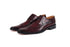 Leo Burgundy Derby Shoes- Premium Leather Handcrafted Shoes
