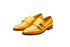 Lobo Lemon Yellow Strap Loafers- Premium Leather Handcrafted Shoes