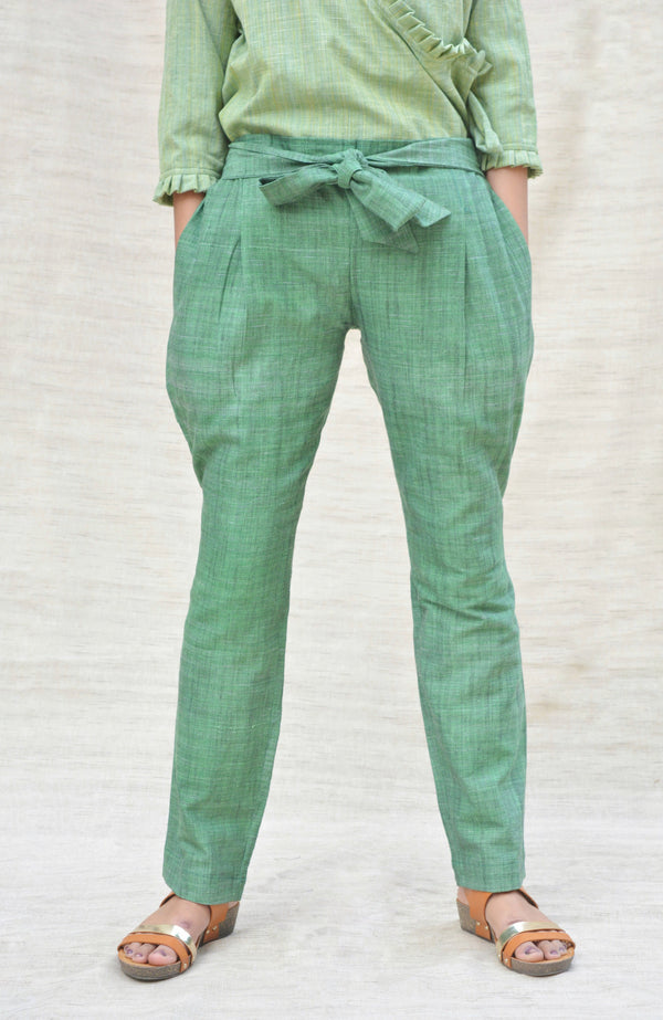 I Wear Khadi -Green Trouser-IWK-003668