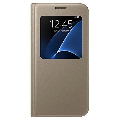 Samsung EF-CG930PFEGIN Gold S View Cover for S7