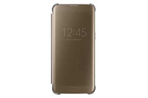 Samsung EF-ZG935CFEGIN Gold Clear View Cover for S7 Edge