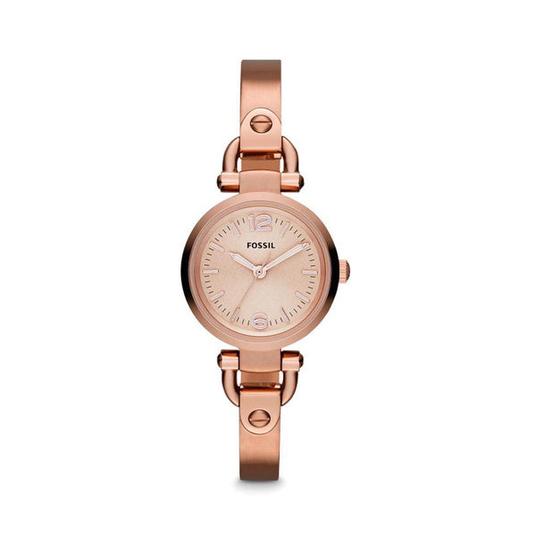 Fossil Georgia Rose Dial Rose Gold-tone Ladies Watch