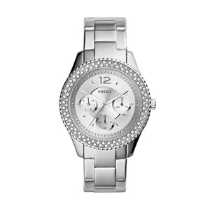 Fossil Stella Multi-Function Silver Dial Stainless Steel Ladies Watch