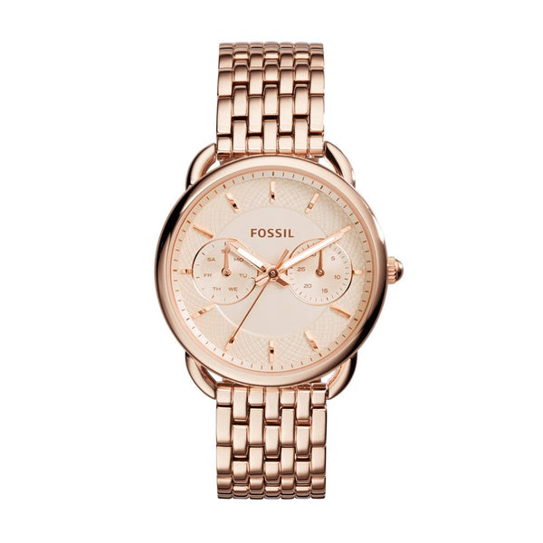 Fossil Tailor Multifunction Rose Gold-tone Steel Ladies Watch