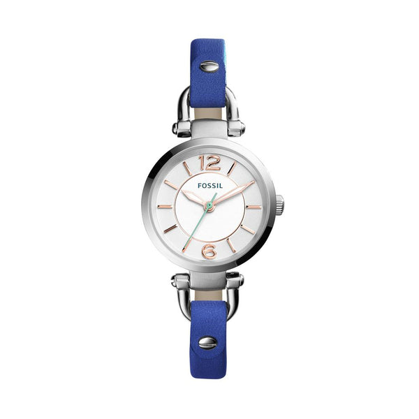 Fossil Georgia Mini Women's Blue Leather Watch ES4001