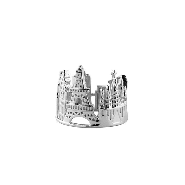 Europe Sterling Silver Ring - Silver Plated