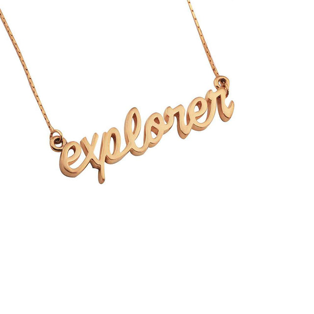 EXPLORE Sterling Necklace - Gold Plated