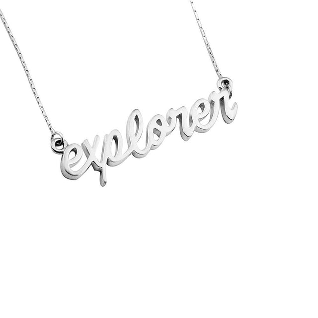 EXPLORE Sterling Necklace - Silver Plated