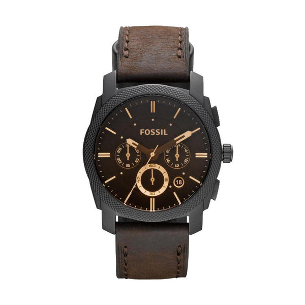 Fossil Machine Flight Chronograph Brown Dial Men's Watch FS4656