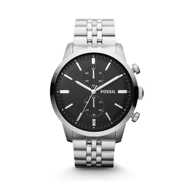 Fossil Townsman Chronograph Black Dial Stainless Steel Men's Watch FS4784