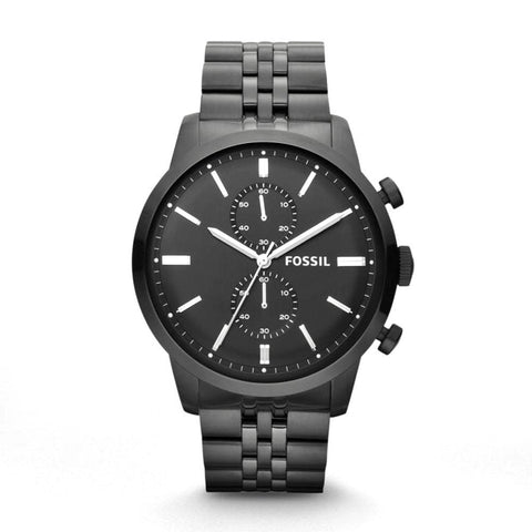 Fossil Townsman Chronograph Black Dial Black-plated Men's Watch FS4787