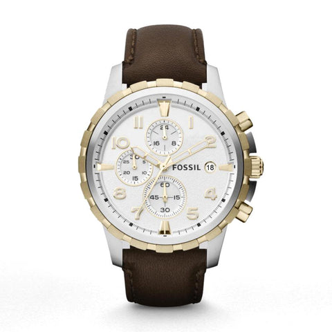 Fossil Dean Chronograph Silver Dial Stainless Steel Men's Watch FS4788