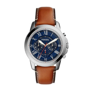 Fossil Grant Men's Blue Dial Chronograph Watch - FS5210