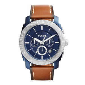 Fossil Machine Men's Chronograph Blue Dial Analog Watch - FS5232