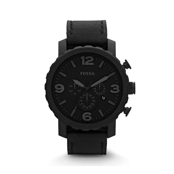 Fossil Nate Unisex Black Dial Analog Watch JR1354