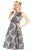 Lady Vintage Damask Delight Eloise Dress - Chalk Black