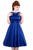 Lady Vintage Cobalt Blue Hepburn Dress - Cobalt Blue