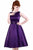 Lady Vintage Cadbury Purple Hepburn Dress - Purple