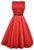 Lady Vintage Red Hepburn Dress - Red