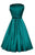 Lady Vintage Teal Hepburn Dress - Teal