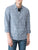 True Religion Slim Fit Mens Work Wear Shirt with Button Cuff & Front Pockets