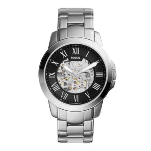 Fossil Grant Men's Silver Stainless Steel Watch - ME3103
