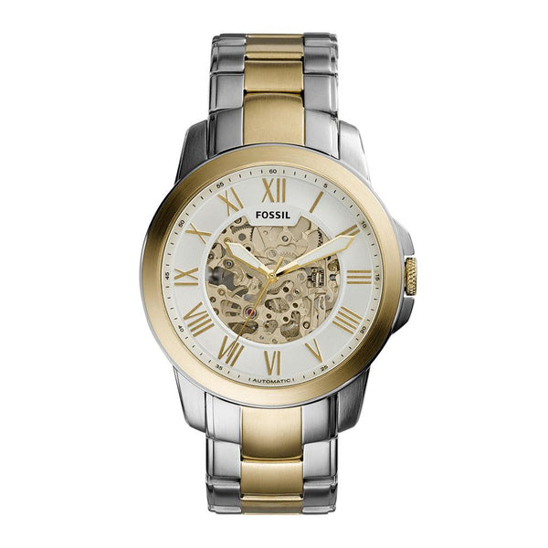 Fossil Grant Men's Automatic Two-Tone Stainless Steel Watch - ME3112