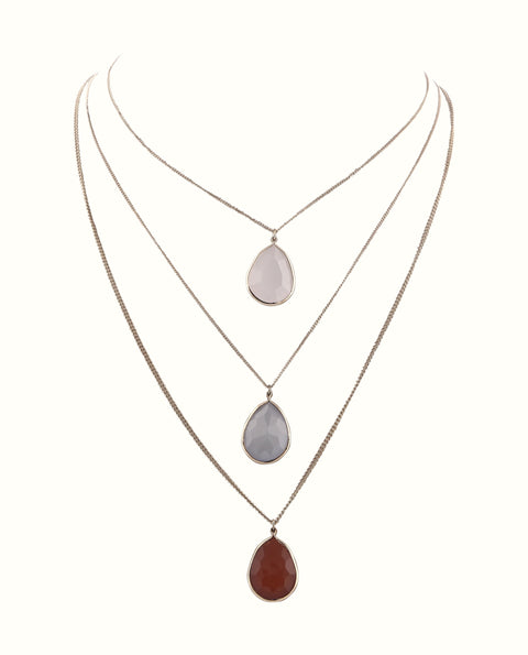 Semi Precious Multi Layer Necklace