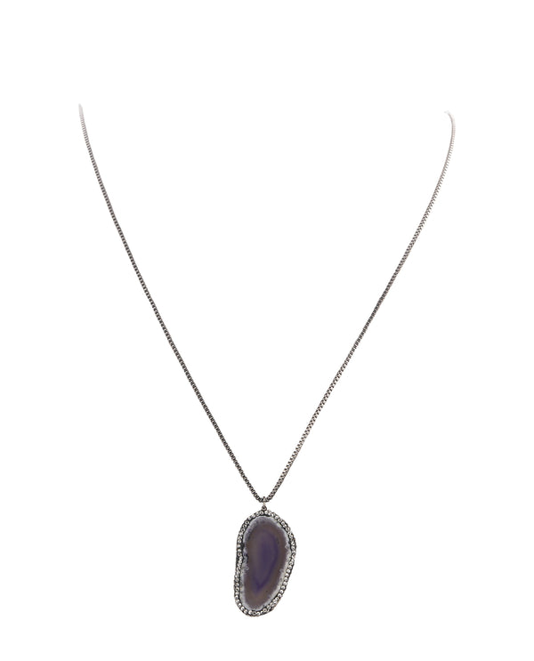 Purple Semi Precoius Necklace