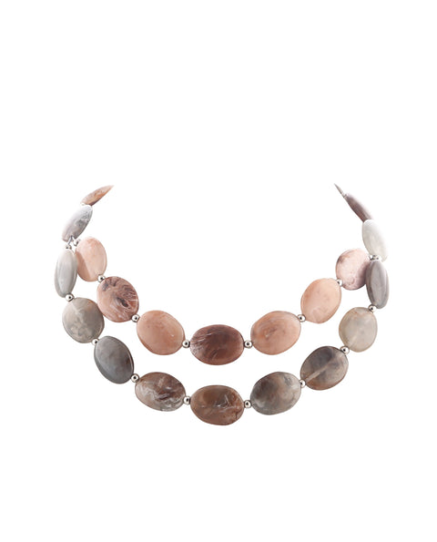 Neutral Tone Double Necklace
