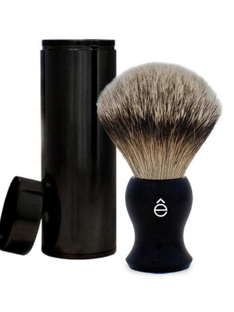 eShave Silvertip Travel Shaving Brush