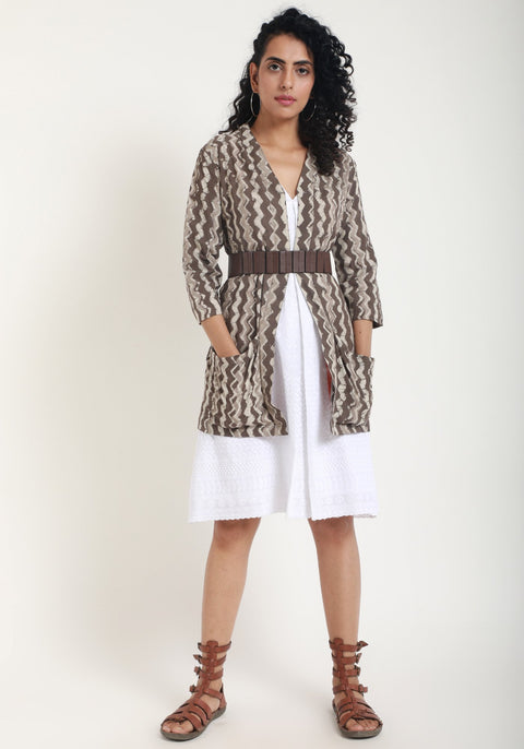 Brown Chevron Jacket