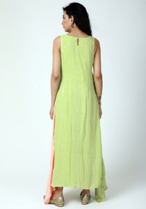 Mint Green Box Asymmetric Kurta Pant