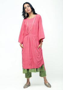Peach Green Kurta Set