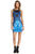 X By Gottex Printed Scuba Dress Blue