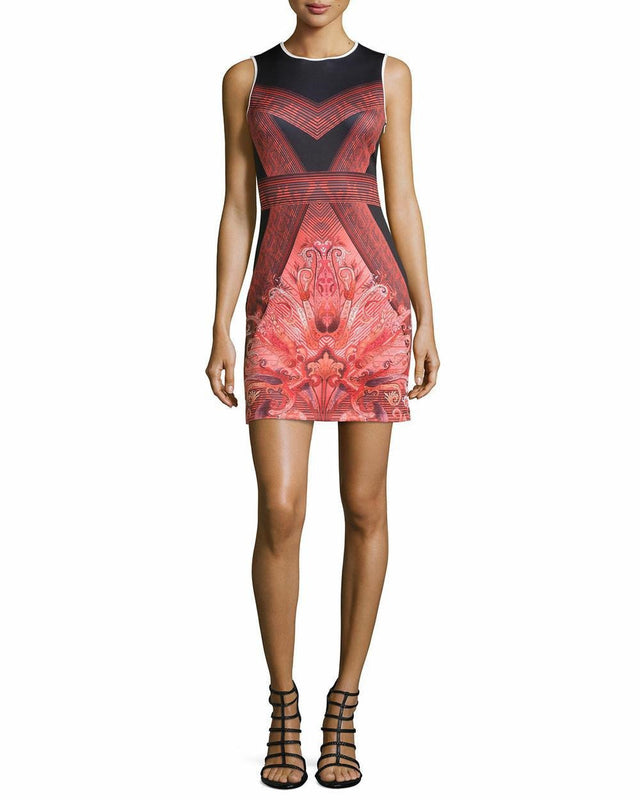 X By Gottex Printed Scuba Dress Red