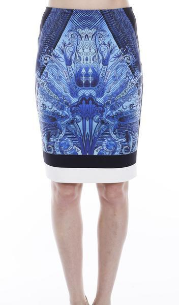 X By Gottex Printed Scuba Skirt