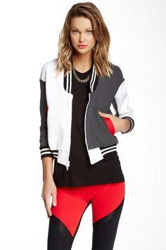 X By Gottex Quilted Bomber Jacket